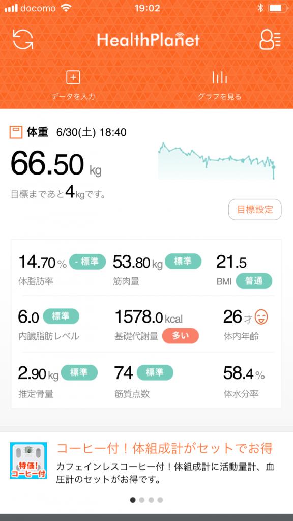 2018年6月体重
