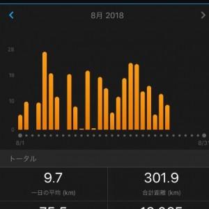 足底筋膜炎の中、意地の8月減量走り込み300km超え