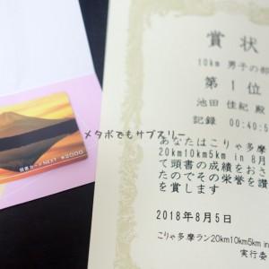 子どもの絵本代獲得のため、月例マラソンこりゃ多摩ラン8月に参加