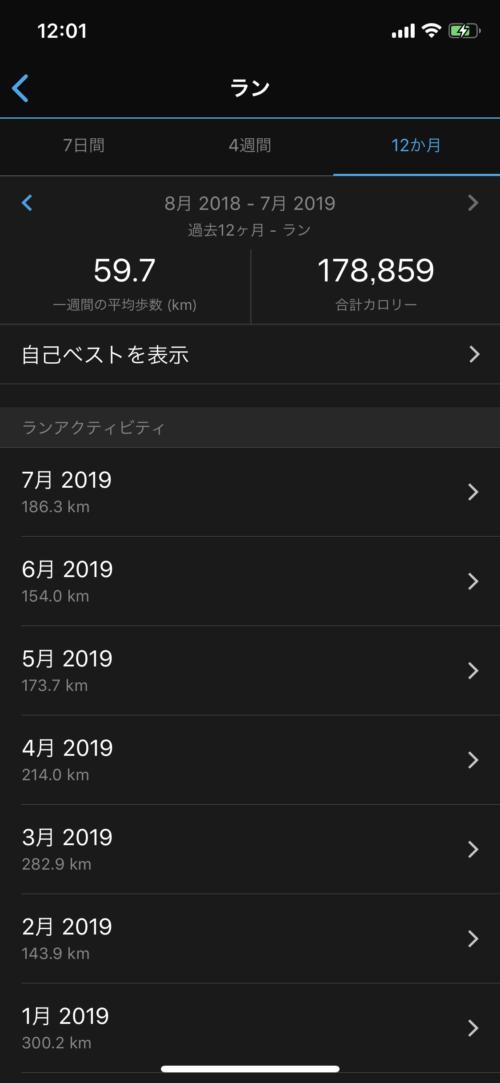 2019年走行距離