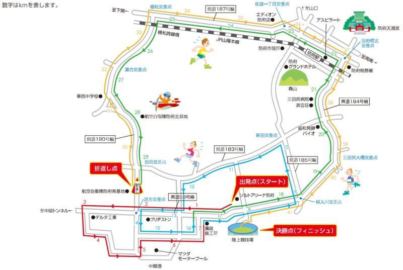 防府読売マラソンコースマップ